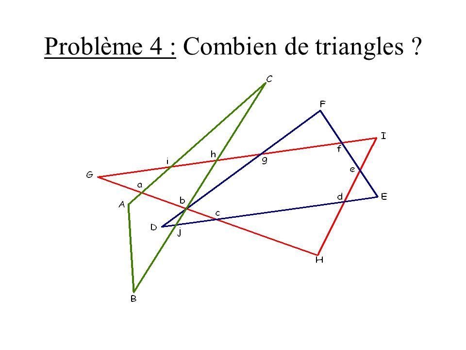 Problème 4 : Combien de triangles ?