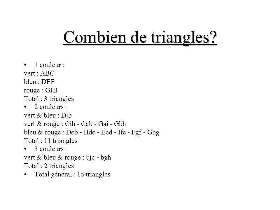 Combien de triangles.