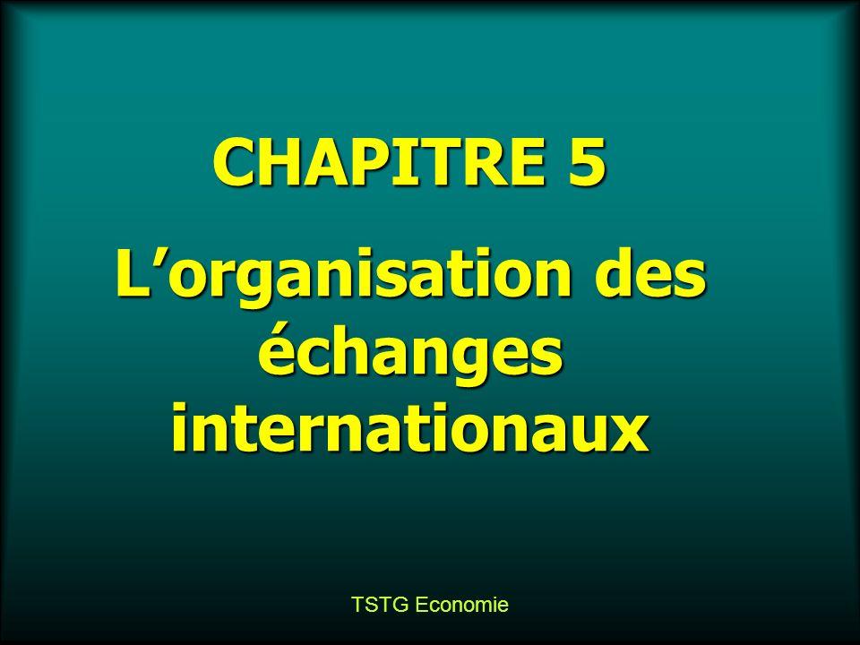 TSTG Economie CHAPITRE 5 Lorganisation des échanges internationaux