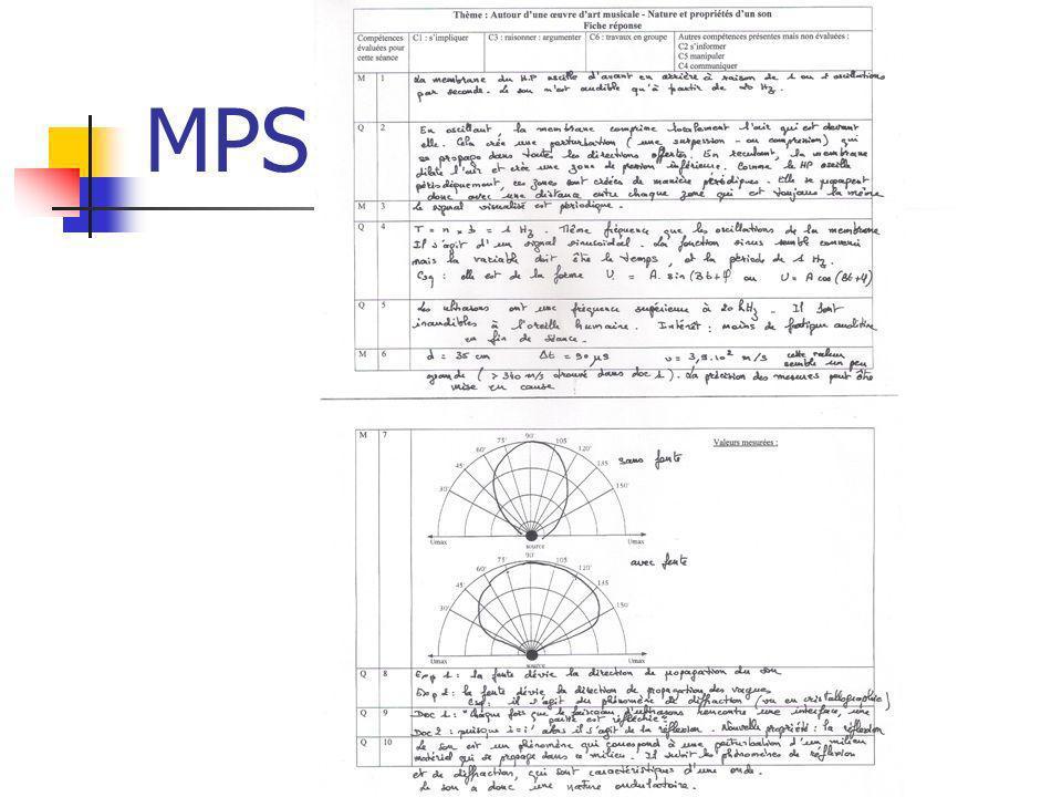 MPS – évaluation