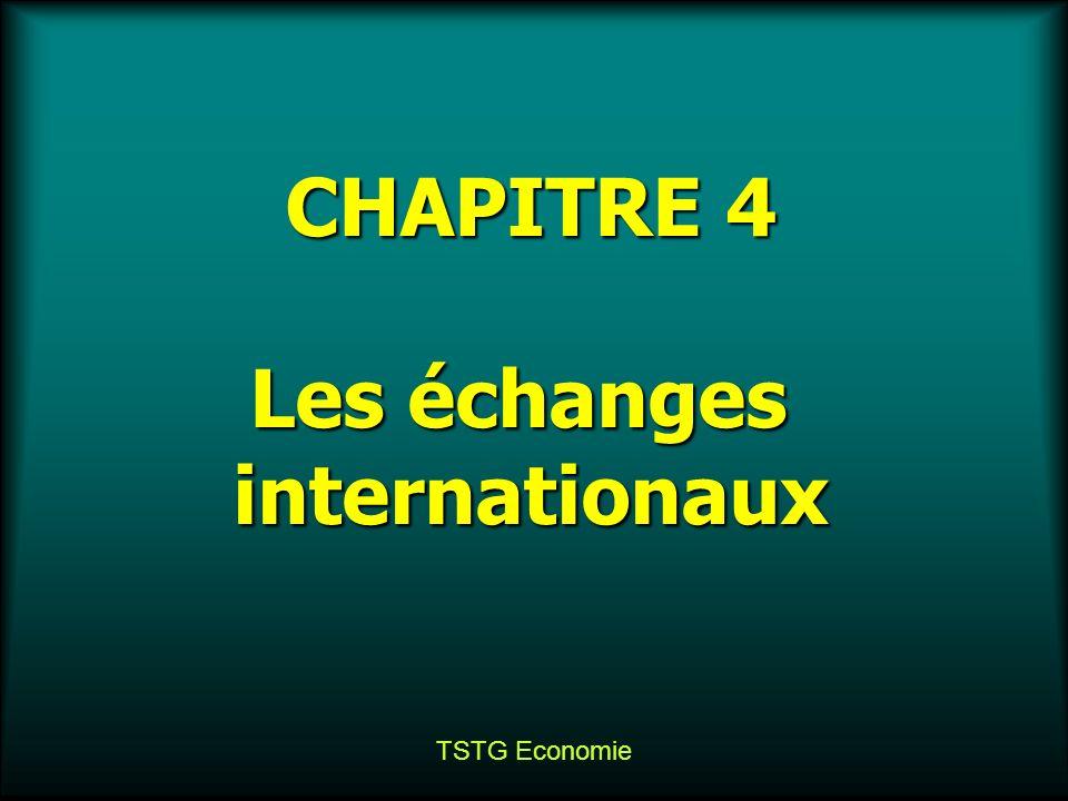 TSTG Economie CHAPITRE 4 Les échanges internationaux