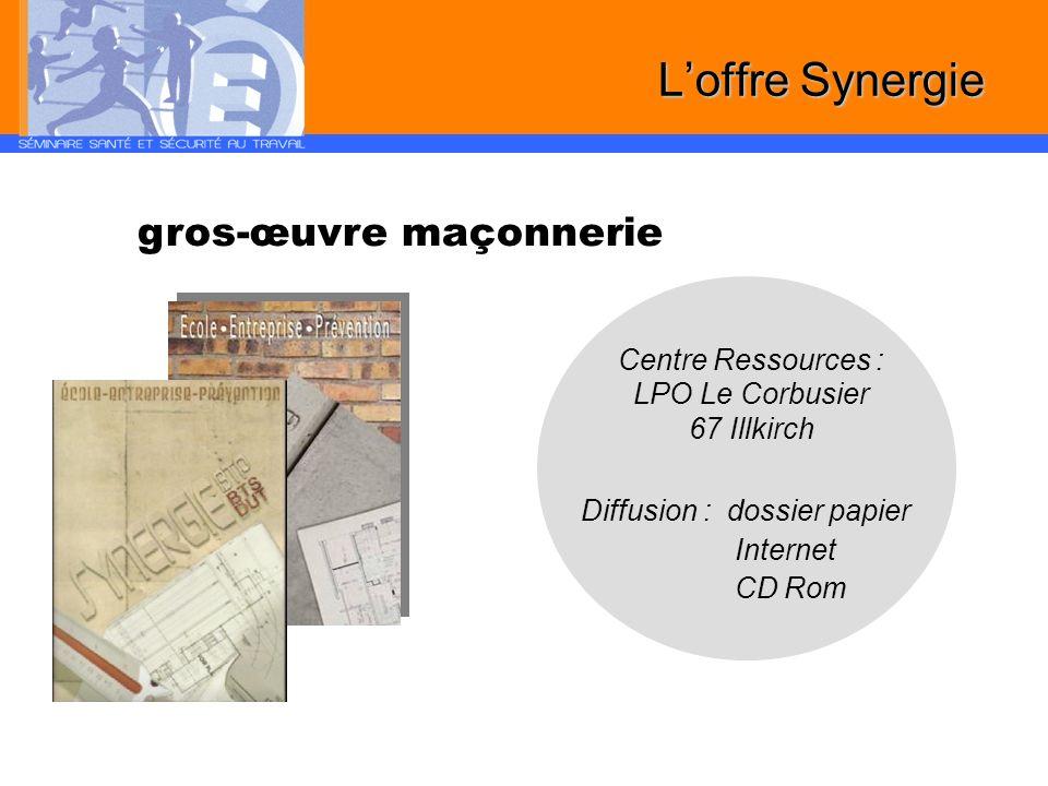 Centre Ressources : LPO Le Corbusier 67 Illkirch Diffusion : dossier papier Internet CD Rom gros-œuvre maçonnerie Loffre Synergie
