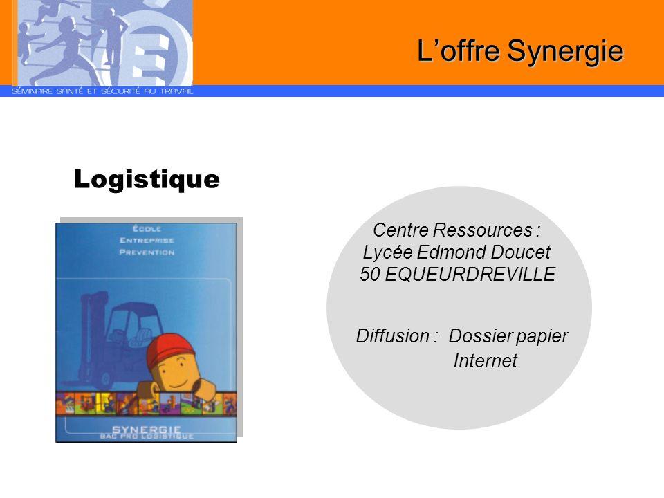 Logistique Diffusion : Dossier papier Internet Loffre Synergie Centre Ressources : Lycée Edmond Doucet 50 EQUEURDREVILLE