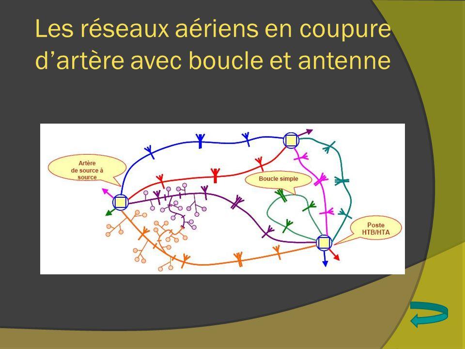 Les réseaux aériens en coupure dartère avec boucle et antenne