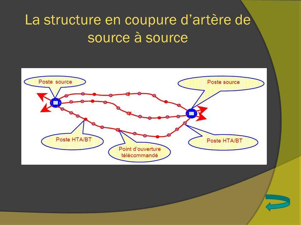 La structure en coupure dartère en fuseau ou épi