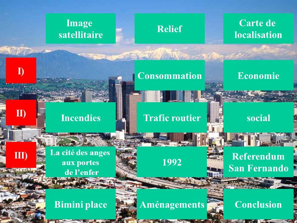 Economie Relief Carte de localisation Trafic routier Aménagements Image satellitaire Incendies 1992 Referendum San Fernando Conclusion La cité des ang