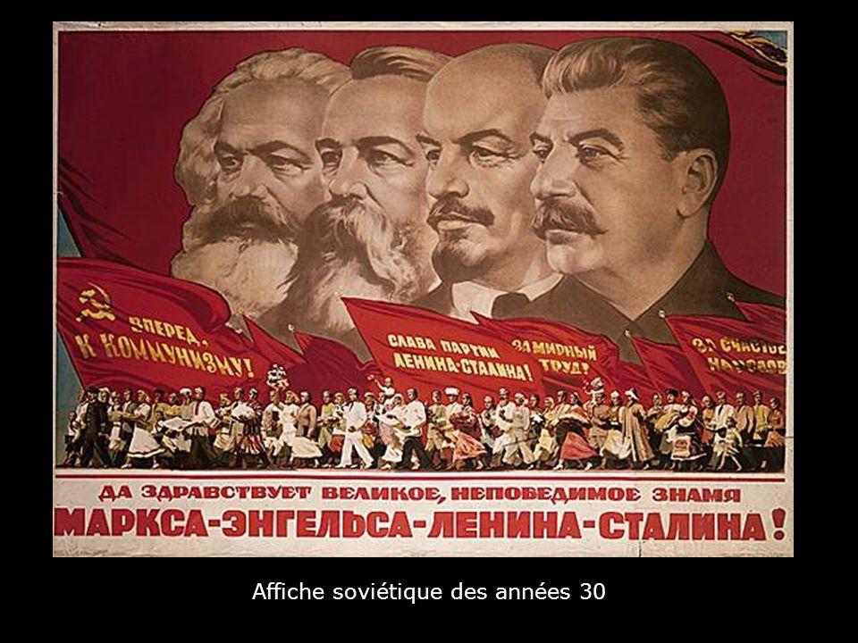 Affiche soviétique des années 30