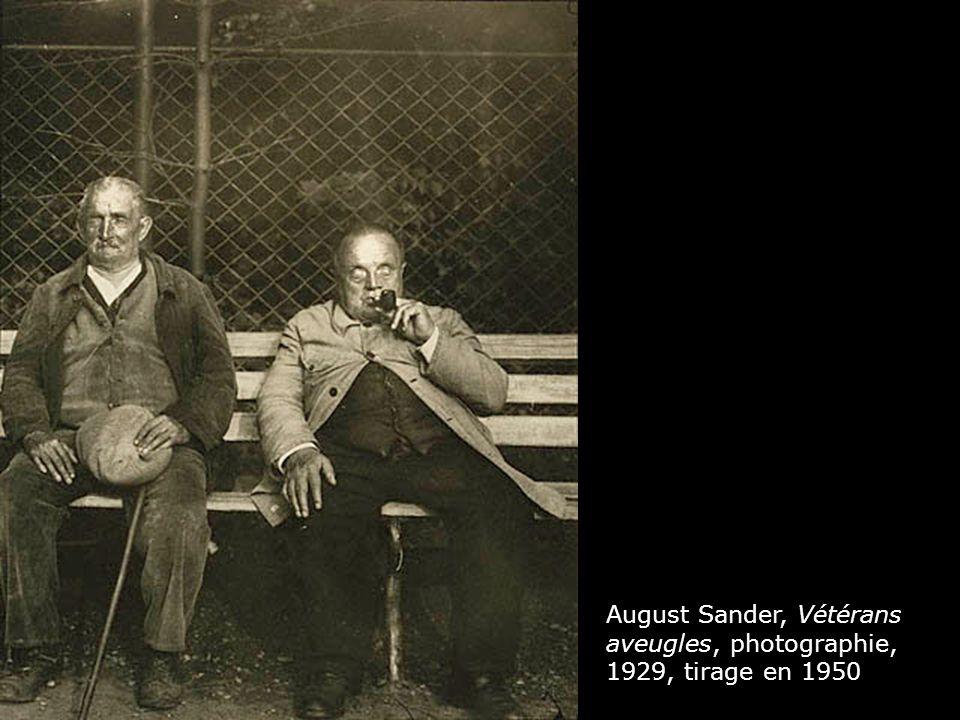 August Sander, Vétérans aveugles, photographie, 1929, tirage en 1950