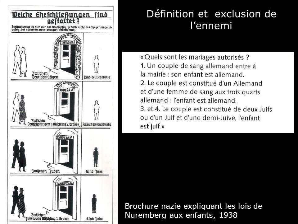 Définition et exclusion de lennemi Brochure nazie expliquant les lois de Nuremberg aux enfants, 1938