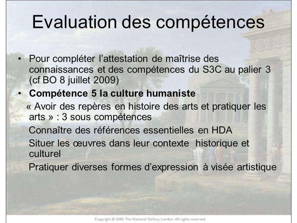 Evaluation des compétences Pour compléter lattestation de maîtrise des connaissances et des compétences du S3C au palier 3 (cf BO 8 juillet 2009) Comp