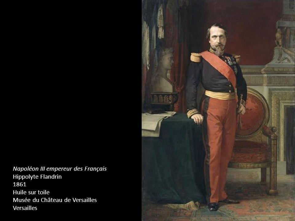 Napoléon III empereur des Français Hippolyte Flandrin 1861 Huile sur toile Musée du Château de Versailles Versailles