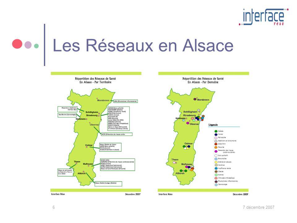 7 décembre 20076 Les Réseaux en Alsace