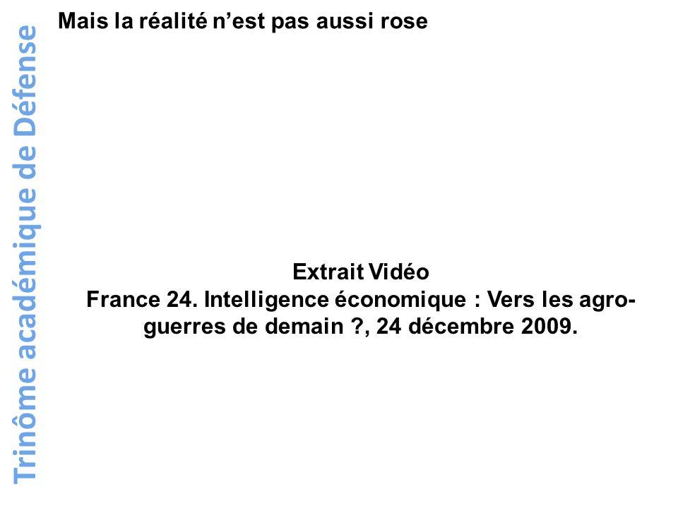 Trinôme académique de Défense Mais la réalité nest pas aussi rose Extrait Vidéo France 24. Intelligence économique : Vers les agro- guerres de demain
