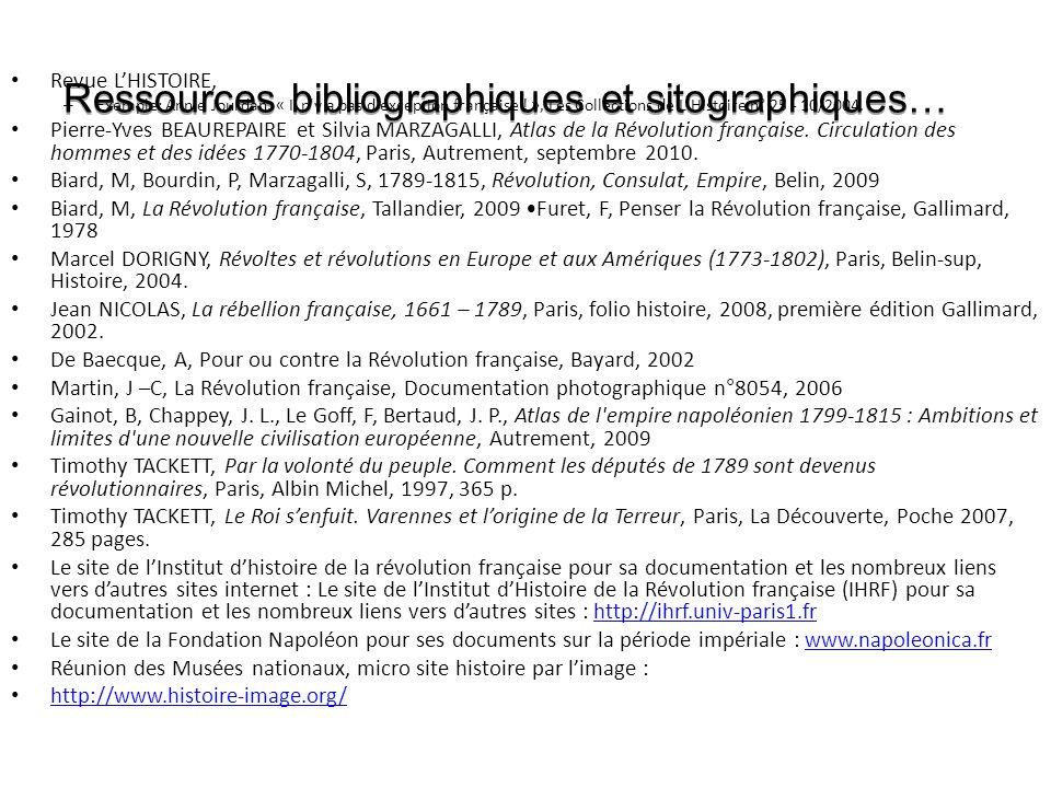 Ressources bibliographiques et sitographiques… Revue LHISTOIRE, – Exemple: Annie Jourdan, « Il n y a pas d exception française .