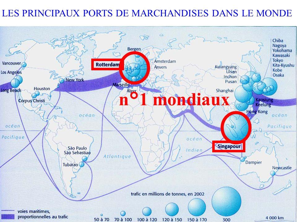 LES PRINCIPAUX PORTS DE MARCHANDISES DANS LE MONDE n°1 mondiaux