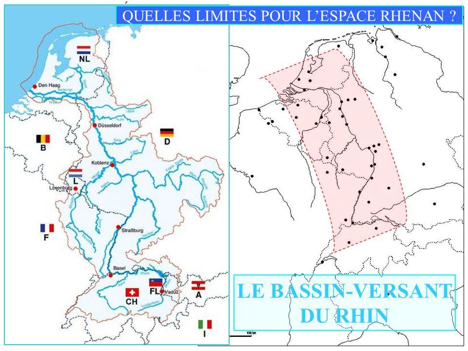 I) LESPACE RHÉNAN : UN DYNAMISME ………. 1) Une unité culturelle Carte 1 p 176 Lespace rhénan au centre de lEurope Lespace rhénan au ………… de lEurope LE B