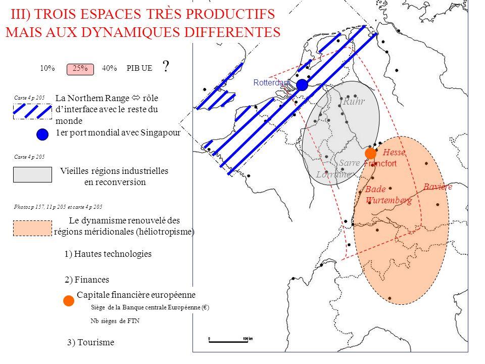 III) TROIS ESPACES TRÈS PRODUCTIFS MAIS AUX ……………….. DIFFERENTES La Northern Range rôle dinterface avec le reste du monde Le dynamisme renouvelé des r
