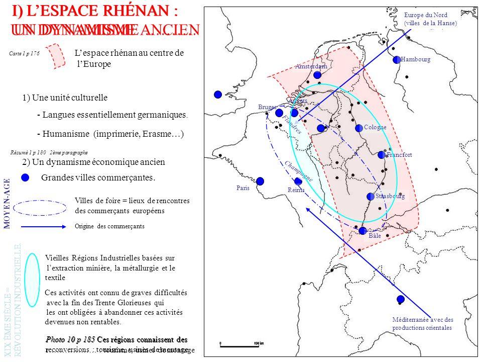 Francfort (RFA) Le noyau historique au bord du Rhin (Römer) après la 2GM dans le style médiéval Rhin