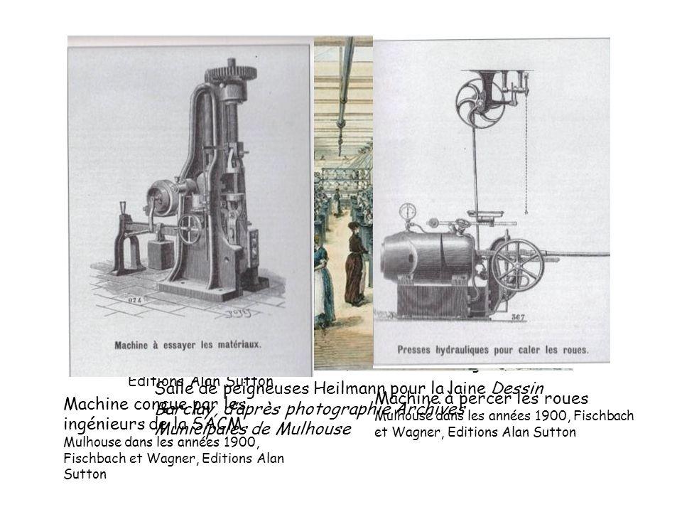 Les ateliers Kœchlin ou SACM (société alsacienne de construction mécanique) Mulhouse dans les années 1900, Fischbach et Wagner, Editions Alan Sutton,