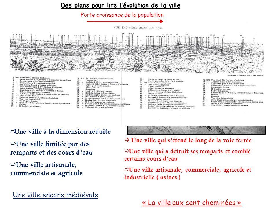 Mulhouse en 1797 Environ 5000 Hb Mulhouse en 1886 Environ 90 000 Hb Des plans pour lire lévolution de la ville Une ville à la dimension réduite Une vi