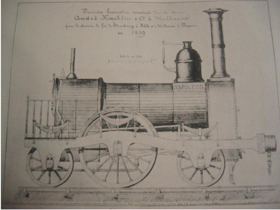 I Le train arrive à Mulhouse et en Alsace *Mulhouse-Thann, ouverte en 1839 est la 3° ligne en France, la première en Alsace, Strasbourg-Bâle est la première ligne internationale.