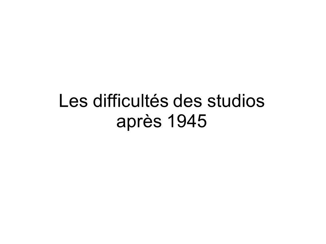 Les difficultés des studios après 1945