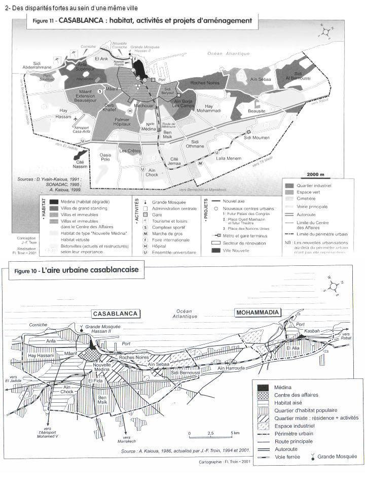Source : Dynamique urbaine au Maroc et bassins migratoires des principales villes www.cered.hcp.mawww.cered.hcp.ma Des très riches et des très pauvres LeMonde.fr - 15 juil.