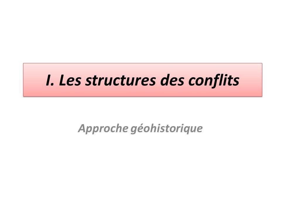 I. Les structures des conflits Approche géohistorique