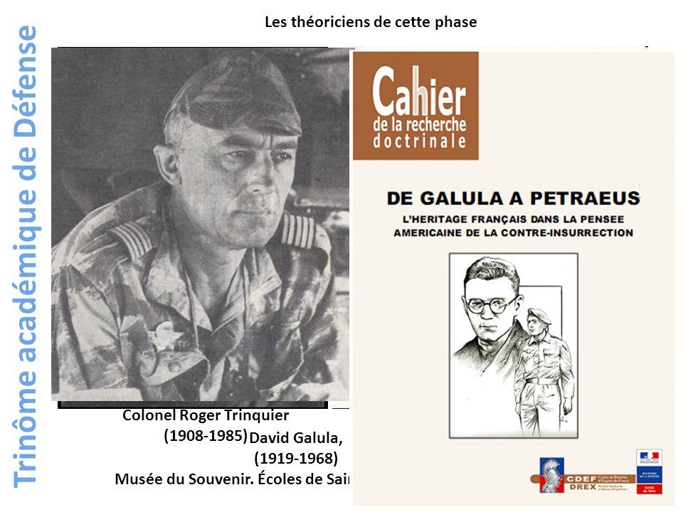 Les théoriciens de cette phase David Galula, (1919-1968) Musée du Souvenir. Écoles de Saint-Cyr Coëtquidan Colonel Roger Trinquier (1908-1985)