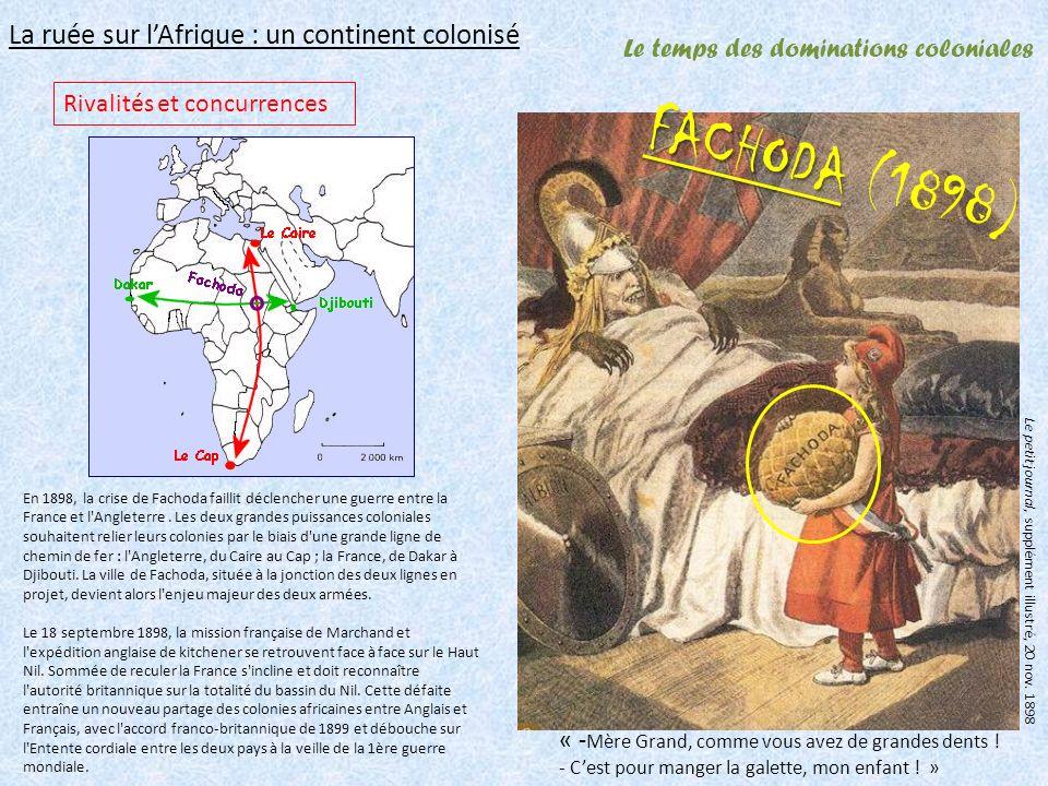 Le temps des dominations coloniales La ruée sur lAfrique : un continent colonisé « - Mère Grand, comme vous avez de grandes dents .