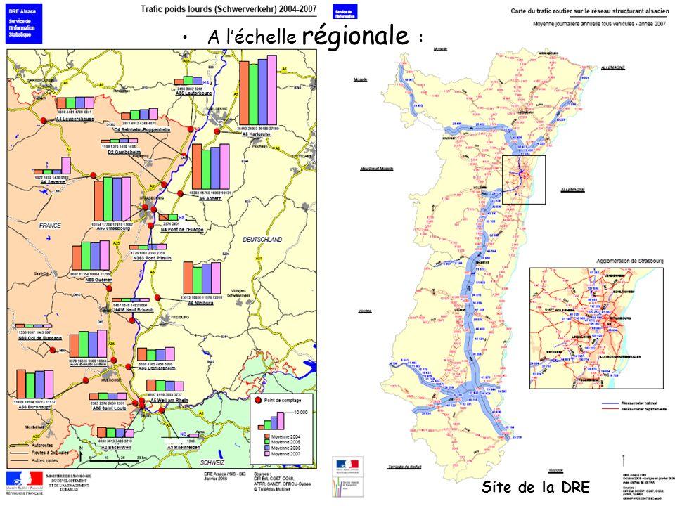A léchelle régionale : Site de la DRE