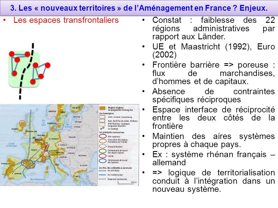 3.Les « nouveaux territoires » de lAménagement en France .