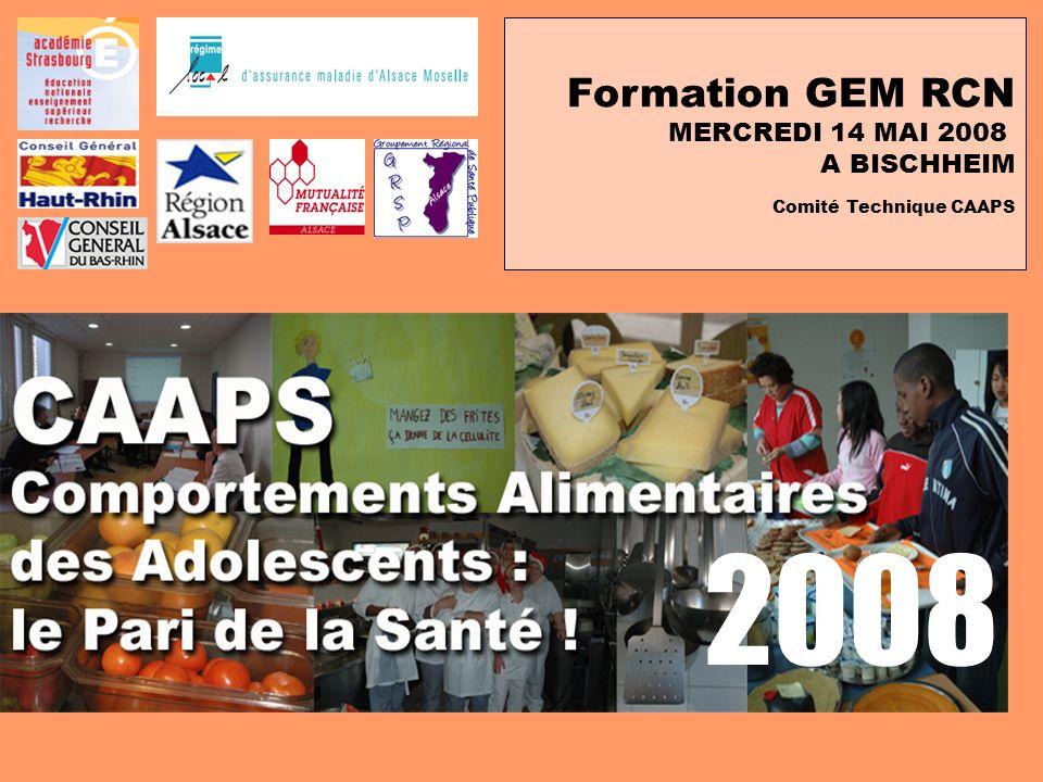 Formation GEM RCN MERCREDI 14 MAI 2008 A BISCHHEIM Comité Technique CAAPS 2008