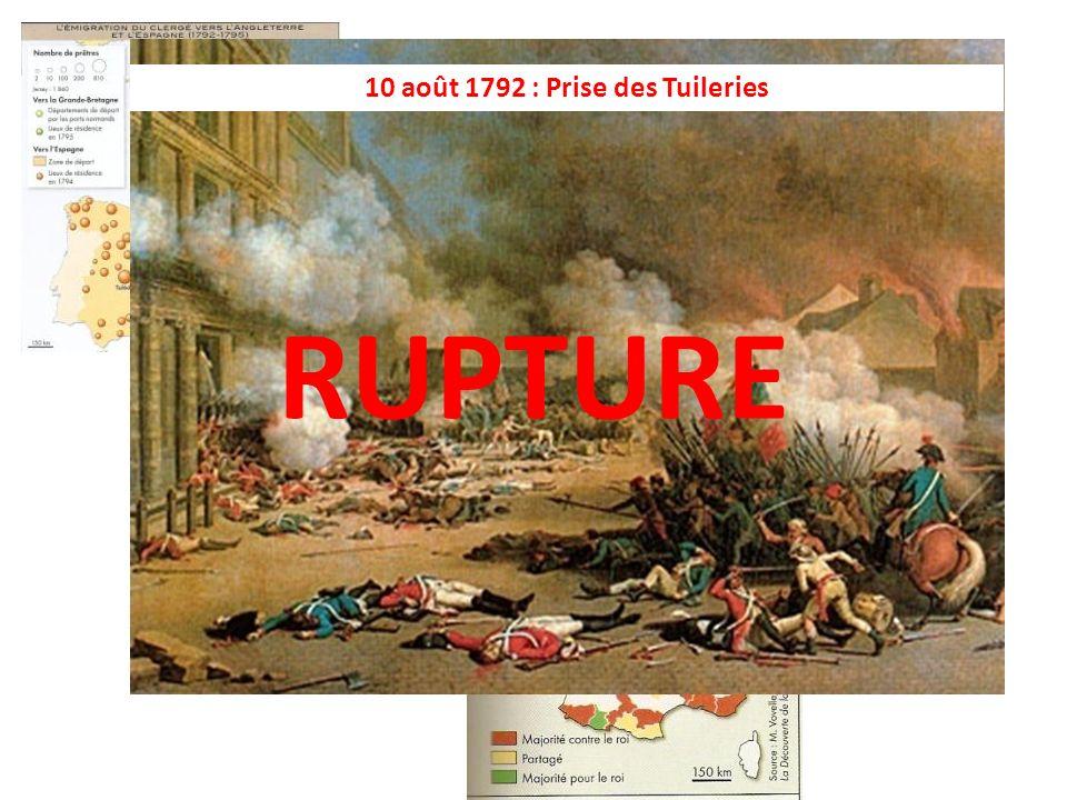 De la fête de la Fédération au 10 août 1792 le projet de régénérer la France échoue : la monarchie constitutionnelle est un échec.