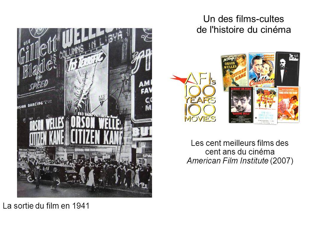 Un des films-cultes de l'histoire du cinéma Les cent meilleurs films des cent ans du cinéma American Film Institute (2007) La sortie du film en 1941