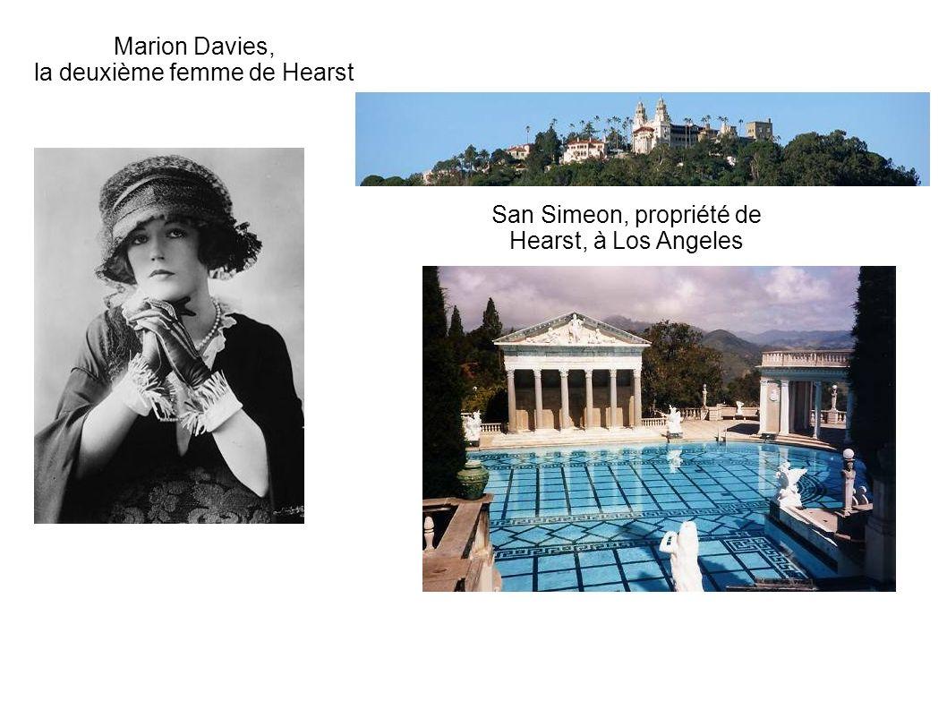 Marion Davies, la deuxième femme de Hearst San Simeon, propriété de Hearst, à Los Angeles