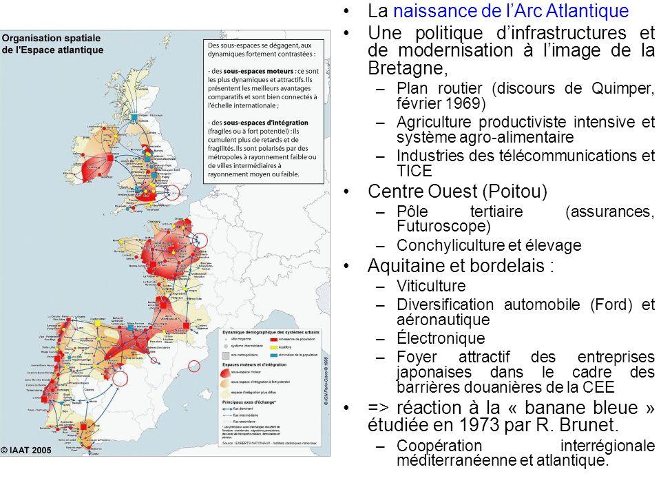 La naissance de lArc Atlantique Une politique dinfrastructures et de modernisation à limage de la Bretagne, – Plan routier (discours de Quimper, févri