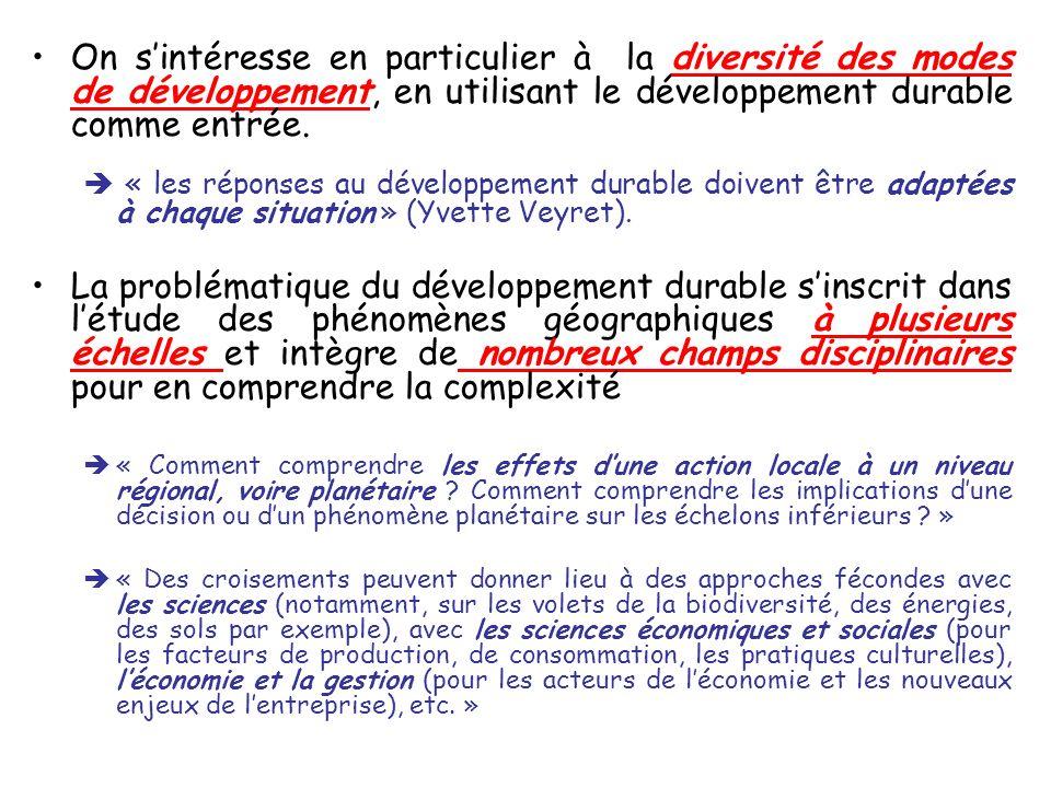 Une seule EDC par thématique (sauf pour le thème introductif et le thème sur la ville durable) Les EDC sinscrivent dans une démarche inductive : elles introduisent toujours le thème, sans préalables (les enjeux du thèmes apparaissent au cours de lEDC).