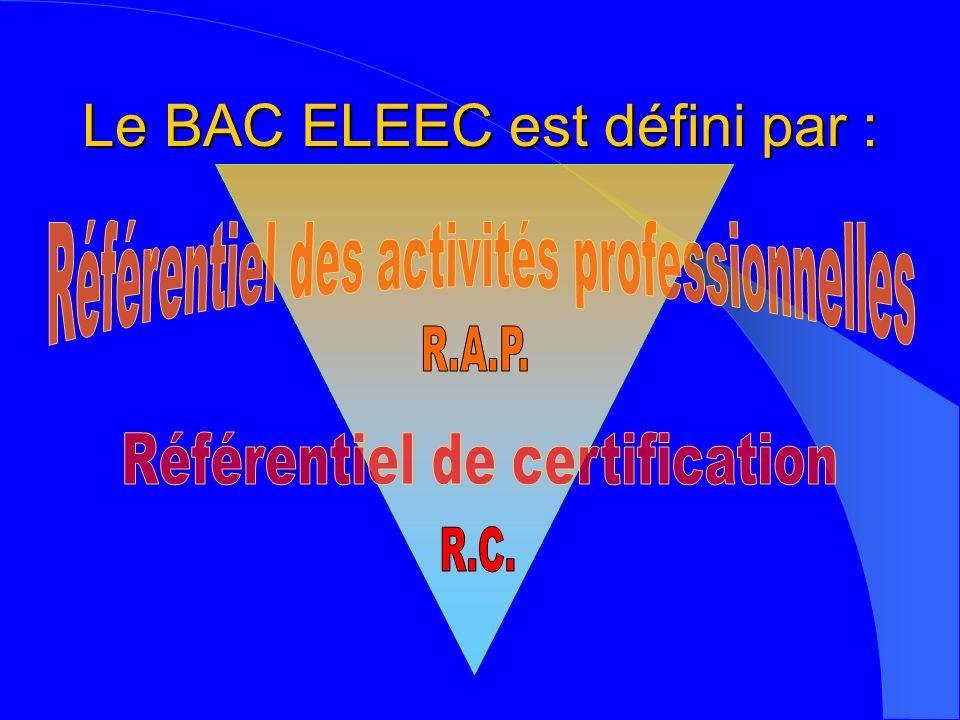Le BAC ELEEC est défini par :