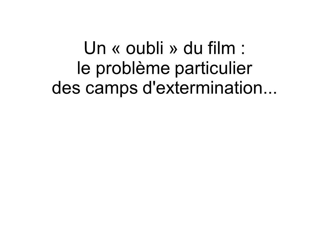 Un « oubli » du film : le problème particulier des camps d'extermination...