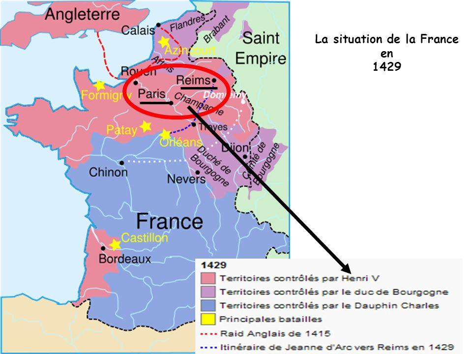 La situation de la France en 1429