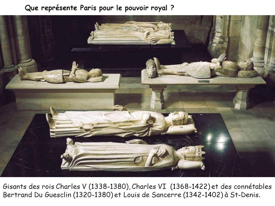 Gisants des rois Charles V (1338-1380), Charles VI (1368-1422) et des connétables Bertrand Du Guesclin (1320-1380) et Louis de Sancerre (1342-1402) à St-Denis.
