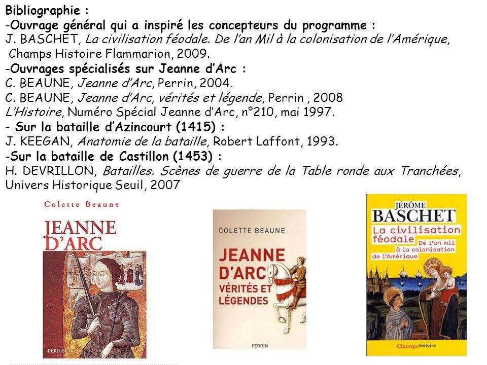 Bibliographie : -Ouvrage général qui a inspiré les concepteurs du programme : J.