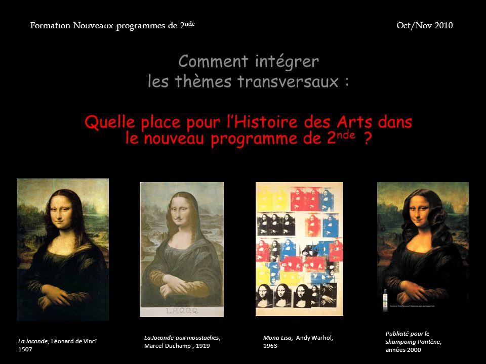 Extrait du préambule du texte de cadrage (BO du 28 août 2008) : « Lenseignement de lhistoire des arts est un enseignement de culture artistique partagée.