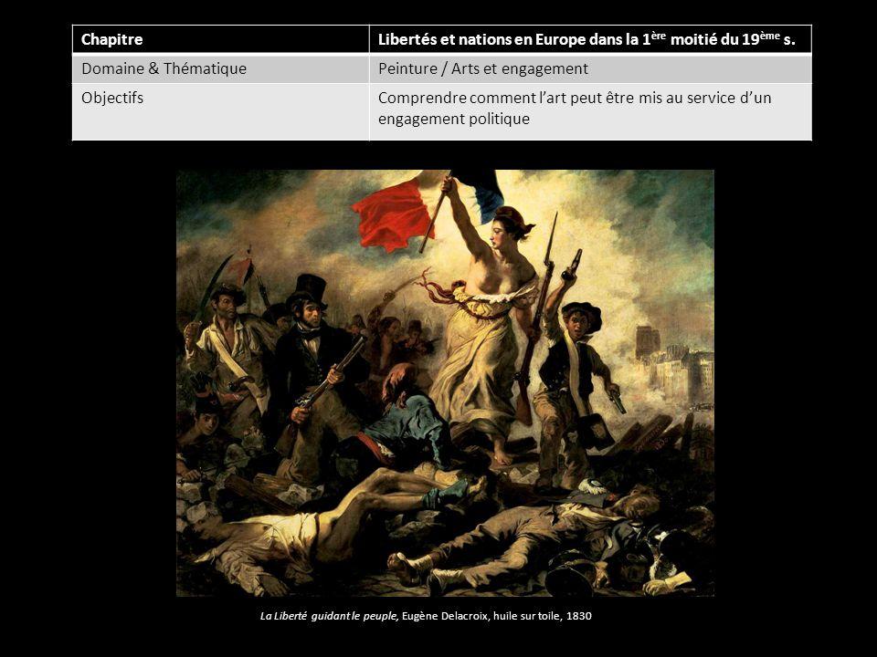 ChapitreLibertés et nations en Europe dans la 1 ère moitié du 19 ème s. Domaine & ThématiquePeinture / Arts et engagement ObjectifsComprendre comment
