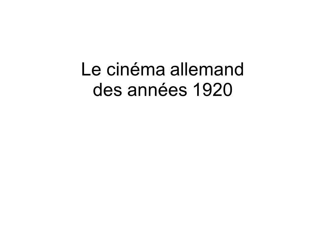 Le cinéma allemand des années 1920