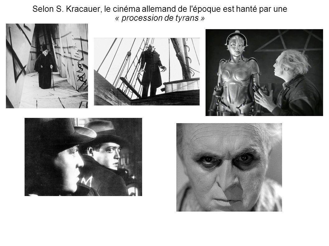 Selon S. Kracauer, le cinéma allemand de l'époque est hanté par une « procession de tyrans »