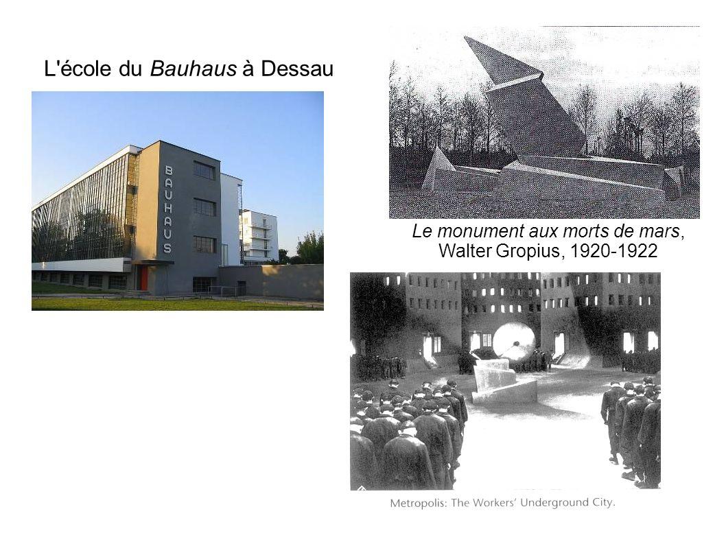 L'école du Bauhaus à Dessau Le monument aux morts de mars, Walter Gropius, 1920-1922