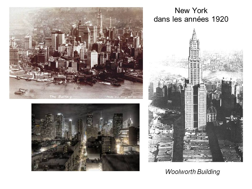 New York dans les années 1920 Woolworth Building