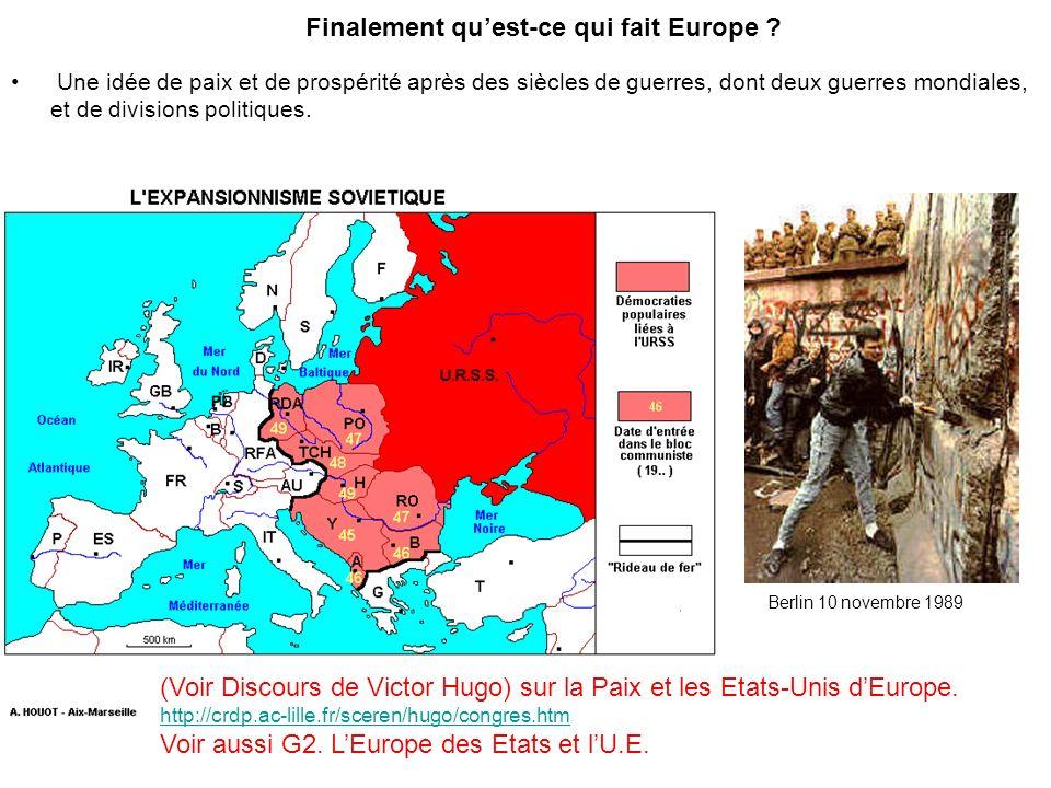 Finalement quest-ce qui fait Europe .